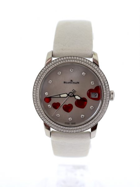Blancpain Lt ed.Ultra-slim st Valentine's ladies watch with diamonds automatic</BR>34mm