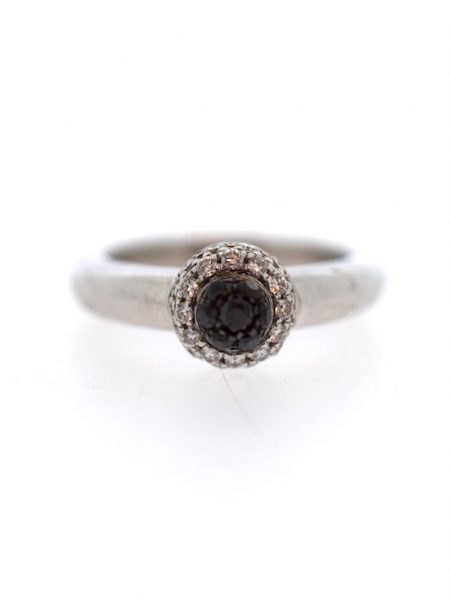 chopard white & black diamond ring </br> 54