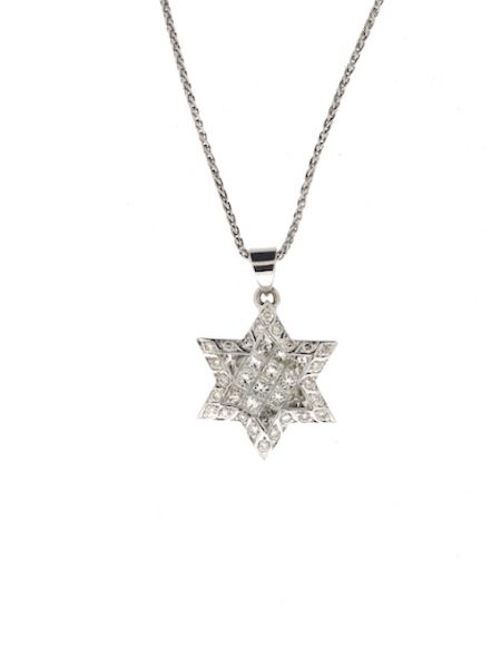 David star pendant with diamonds</br>20mm