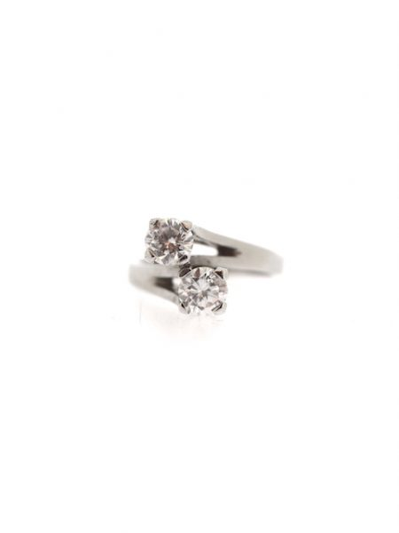 white gold you & me diamonds ring</br>52
