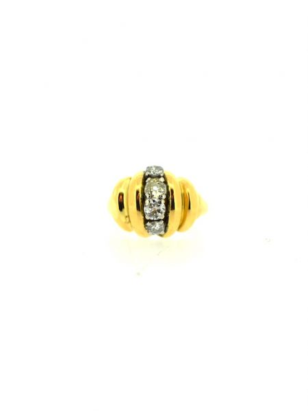 vintage ring with 4 diamonds</br>44