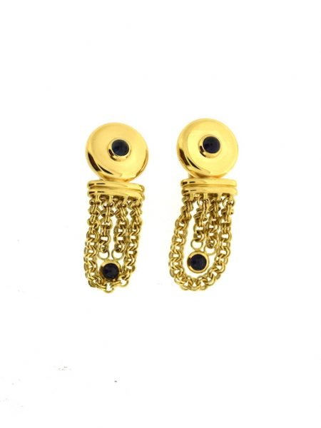 Tabbah earrings with sapphires