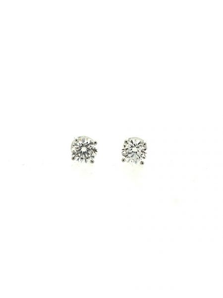 Solitaire diamonds earrings</br>0.90cts
