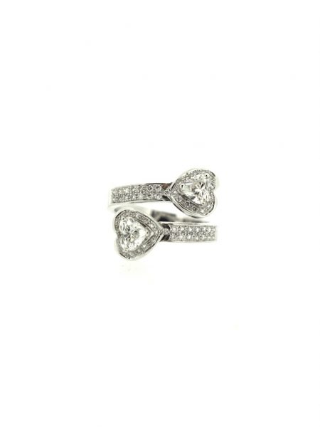 2 hearts shape diamonds ring</br>51