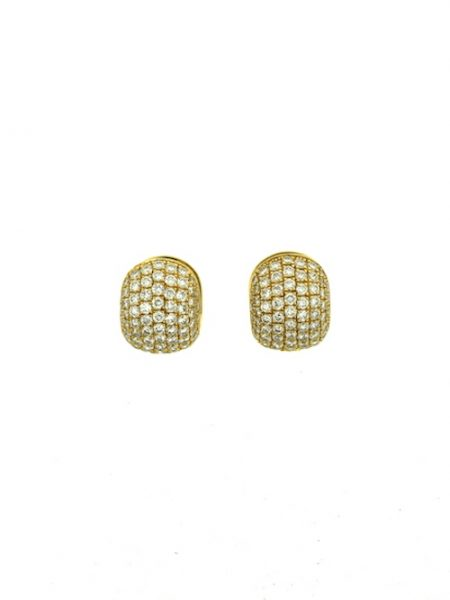 Clarence gold diamonds earrings