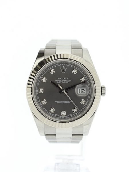 Rolex Datejust Dark Rhodium Diamond Dial</br>41mm