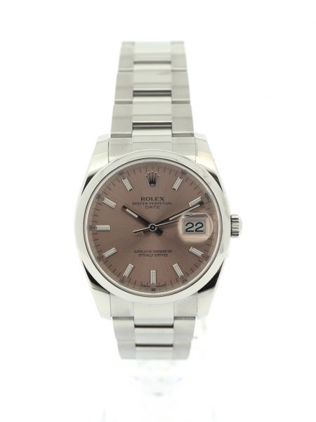 Rolex Date Salmon Dial</br>34mm