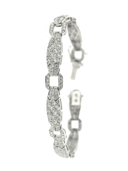 White gold diamonds bracelet 1.75ct </br>18cm
