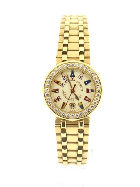 Corum Admiral's Cup full gold Lady</BR>32mm
